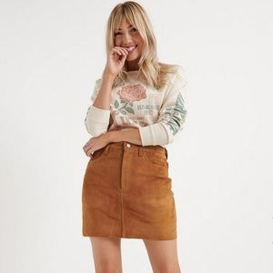 NWT Lucky Brand Suede Mini Skirt